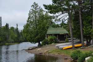 Canoes available to use in the BWCA