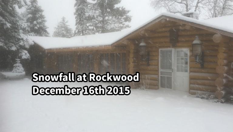 Snowfall Rockwood Lodge December 16 2015