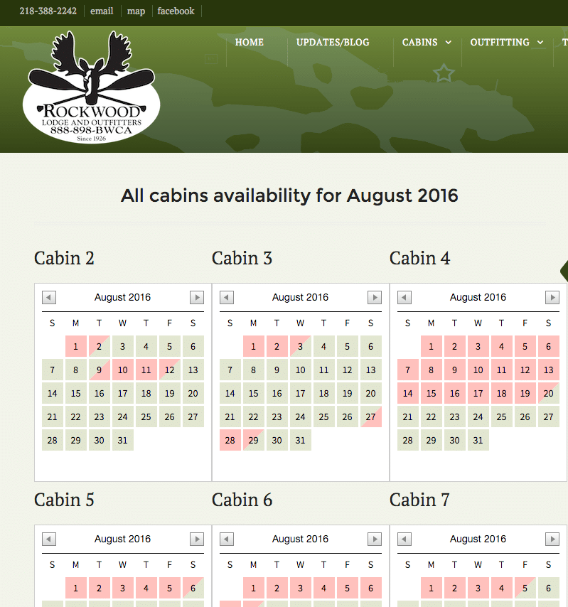 Cabin Availability