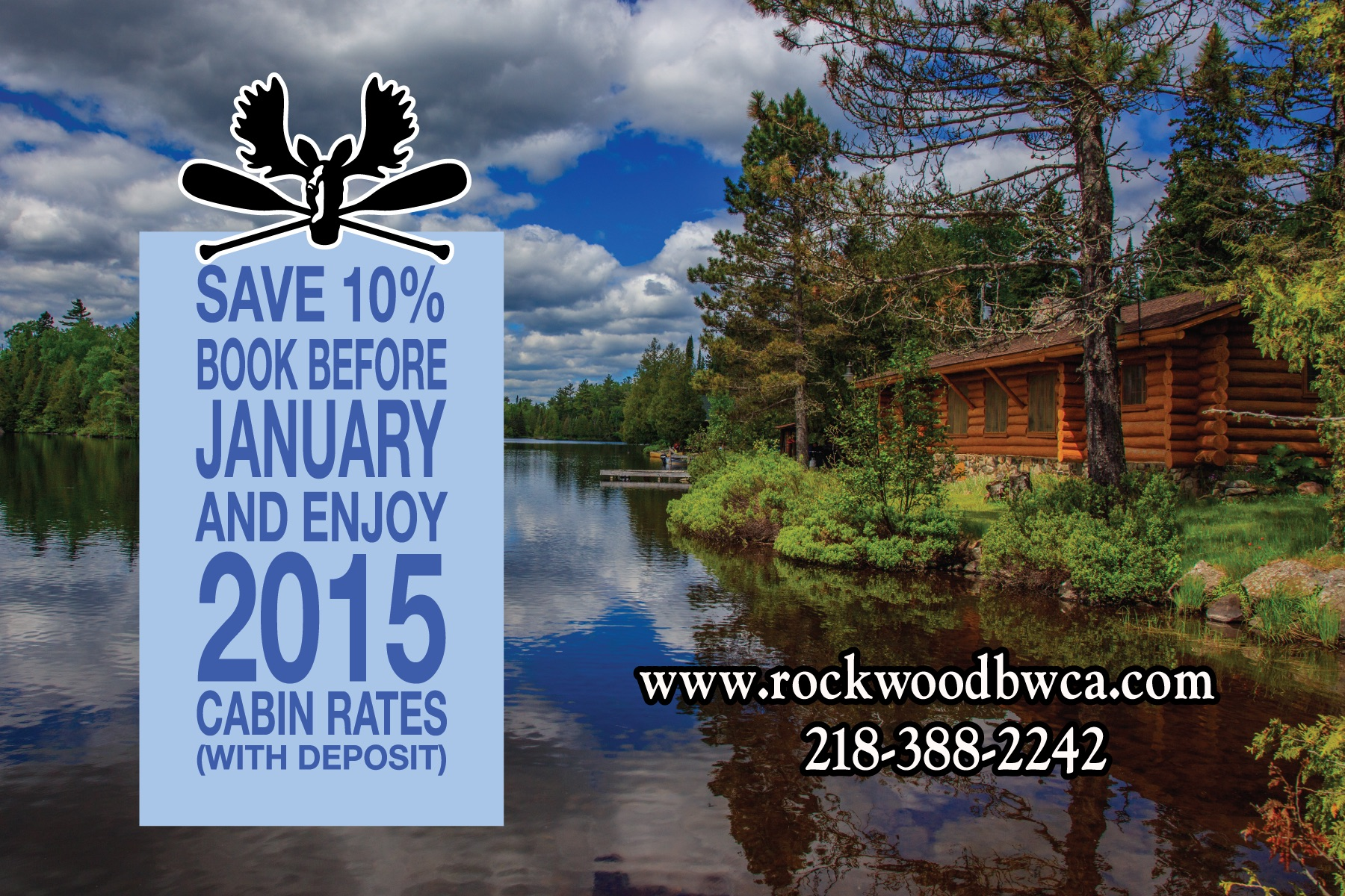 Save 10 percent on Cabins – promotion ended