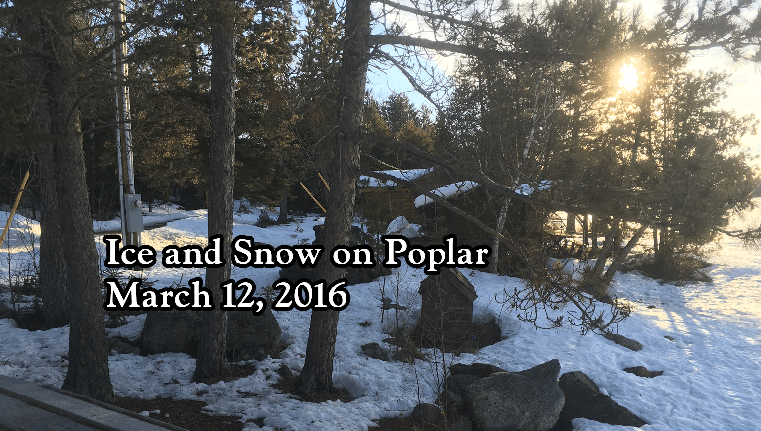 Ice and Snow on March 12, 2016