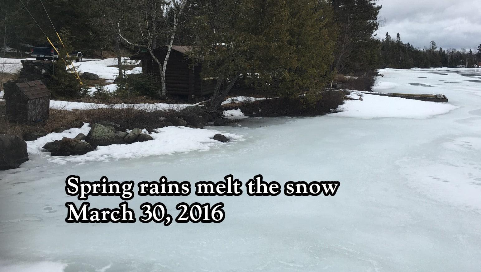 Spring rains melt the snow