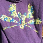 Hoodie T-shirt flower purple