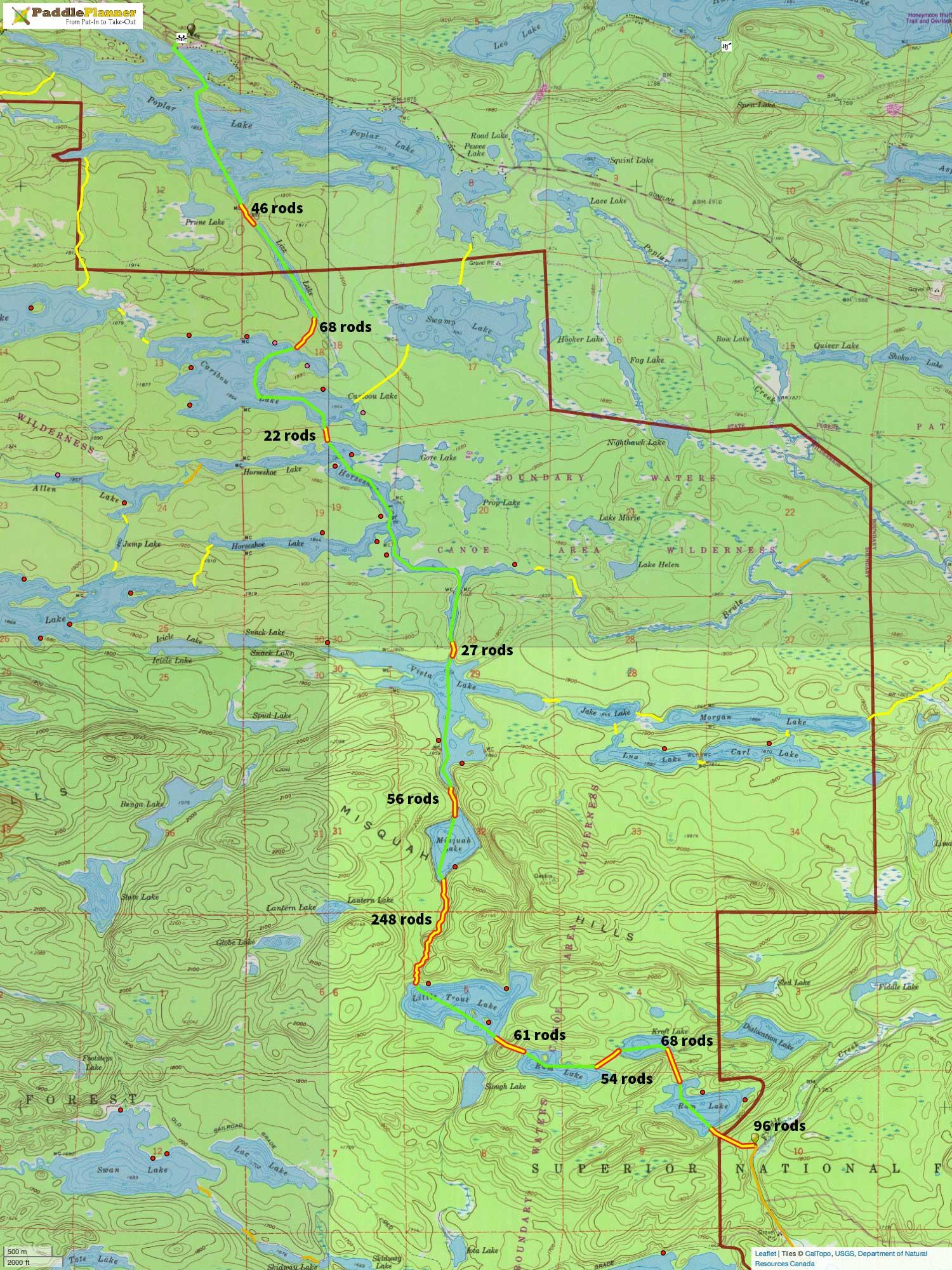 Rockwood Canoe Route Ram to Poplar