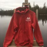 Hoodie Zipfront Red